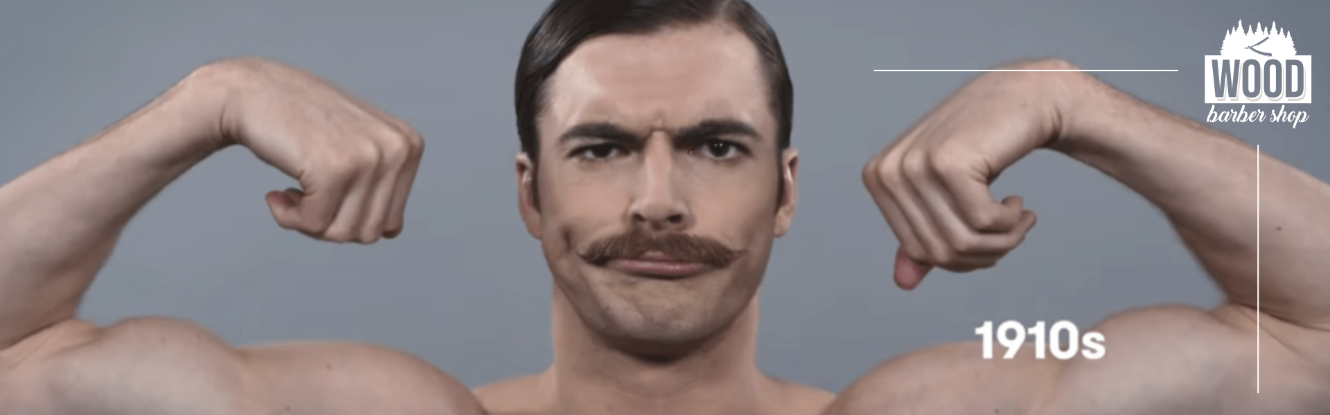 taglio dei baffi nel 1900