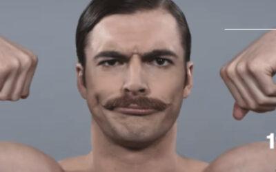 Il taglio dei baffi nel '900
